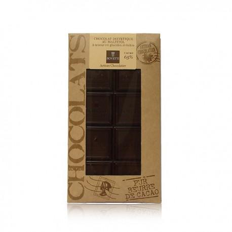 Tablette de chocolat noir maltitol spécial diabète Bovetti 100g
