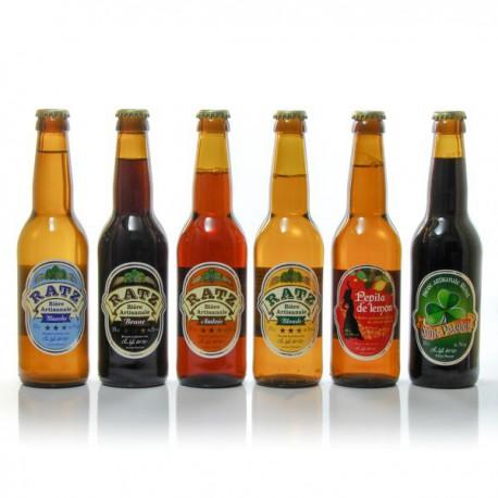 Lot de Bières artisanales du Quercy Brasserie Ratz 6x33cl