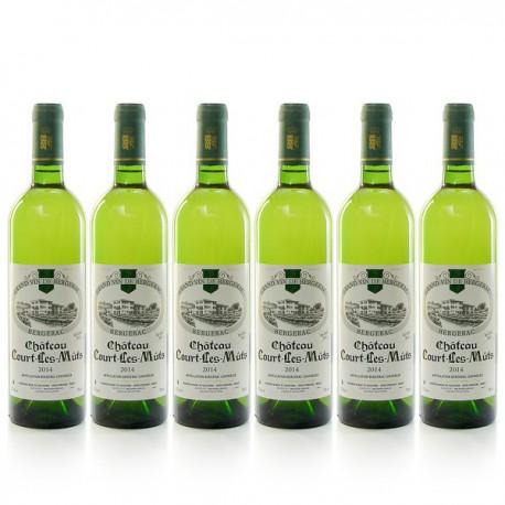 Carton 6 bouteilles de Château Court les Mûts AOC Bergerac sec 2014 75cl