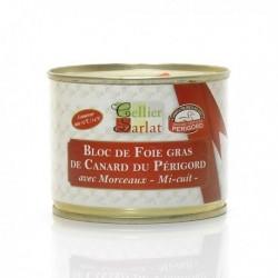 Bloc de Foie Gras de Canard du Perigord Mi-Cuit 30% Morceaux 200g