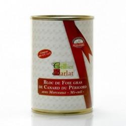 Bloc de Foie Gras de Canard du Perigord Mi-Cuit 30% Morceaux 400g