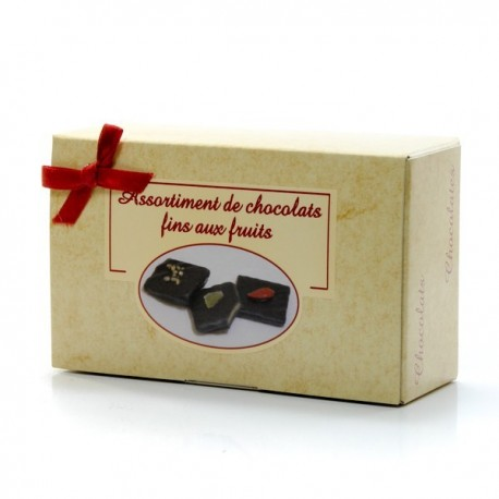 Ballotin Carres Fruites Assortis 12 Chocolats 80g