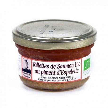 Rillettes de Saumon D'Ecosse Bio au Piment D'Espelette 90g