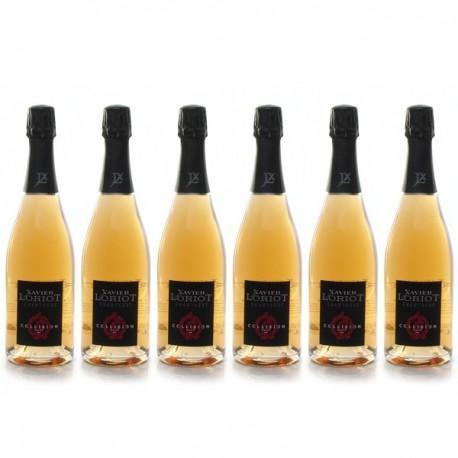 Carton 6 Bouteilles Champagne Xavier Loriot Aoc Champagne Rose 6x75cl