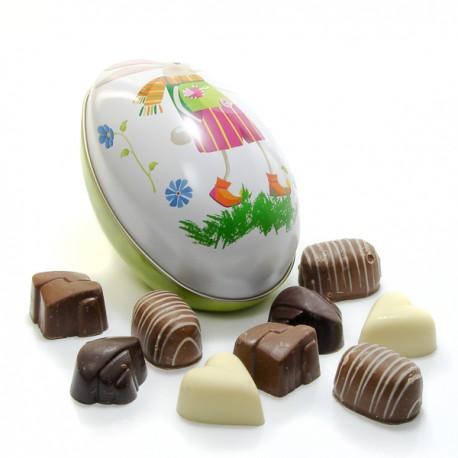 Oeuf de Paques Assortiment de Chocolats Belges 120g