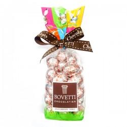 Sachet Petits Oeufs Fourres Emballes Chocolat Lait Caramel 200g