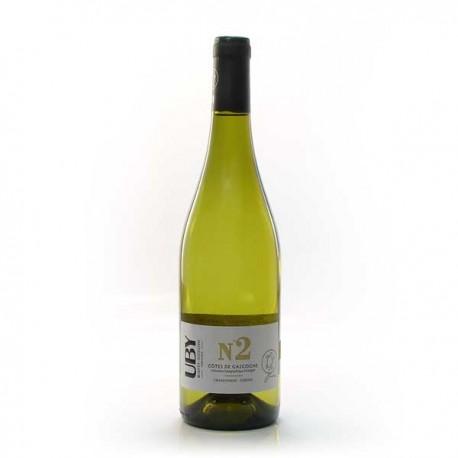 Carton De 6 Bouteilles Domaine Uby Chenin Chardonnay N°2 IGP Cotes De Gascogne Blanc 2020 6x75cl