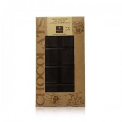 Tablette de chocolat noir Ghana Equateur Papouasie Bovetti 100g