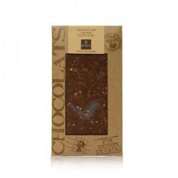 Tablette de chocolat lait caramel & fleur de sel Bovetti 100g