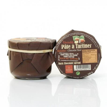 Pâte à tartiner véritable Chocolat Noir et Noisettes 200g