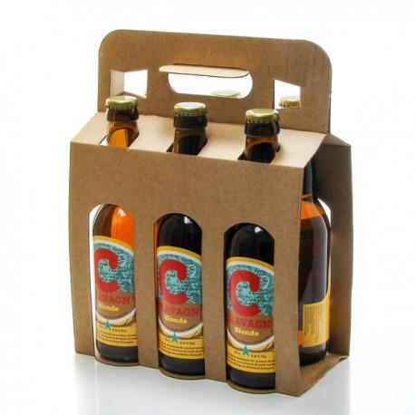 Lot de 6 bières blondes artisanales Chavagn 6x33cl