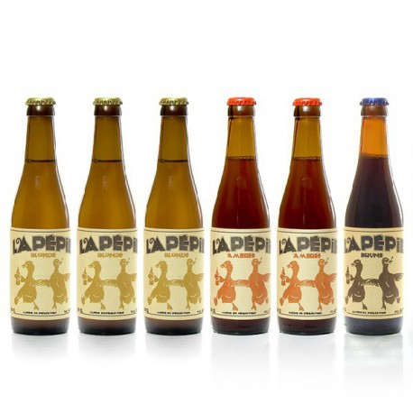 Lot de Bières artisanales du Périgord Brasserie Lapépie 6x33cl