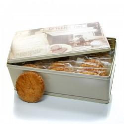 Boite à biscuits 30 sablés artisanaux abricot coquelicot 30x50gr soit 1500gr