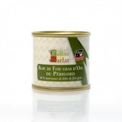 Bloc de Foie Gras d'Oie du Périgord avec 30% Morceaux 100g