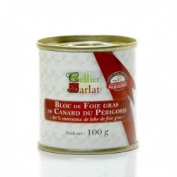 Bloc de Foie Gras de Canard du Périgord avec Morceaux 100g