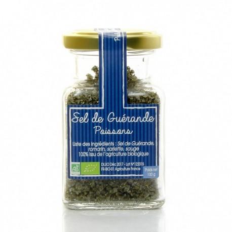 Sel de Guerande Aromatise Spécial Poisson Bio 100g