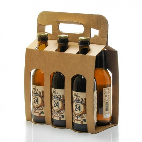 Pack de 6 Bières Brassée 24 Blondes Brasserie Artisanale de Sarlat 33cl