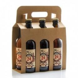 Pack de 6 Bières Brassée 24 Ambrées Brasserie Artisanale de Sarlat 33cl