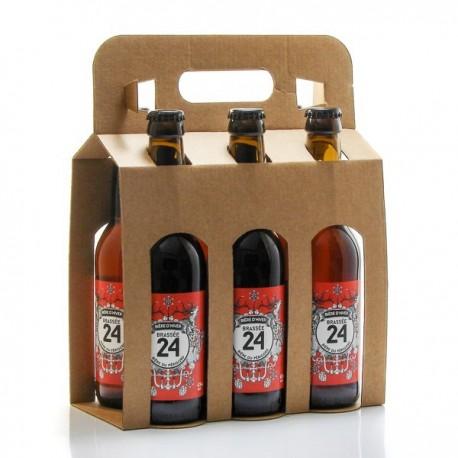 Pack de 6 Bières Brassée 24 Bières d'Hiver Brasserie Artisanale de Sarlat 33cl