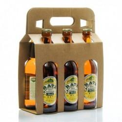 Pack de 6 Bières Blondes Artisanales du Quercy Brasserie Ratz 33cl soit 198cl