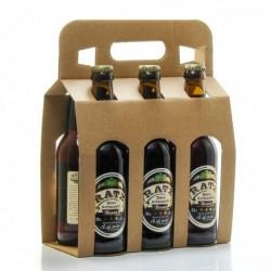 Pack de 6 Bières Brunes Artisanales du Quercy Brasserie Ratz 33cl soit 198cl