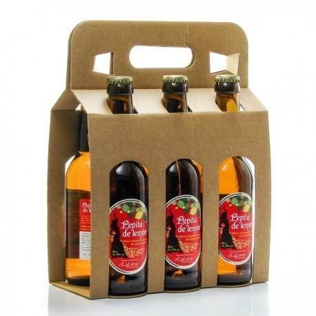 Pack de 6 Bières Pepita Lemon Artisanales du Quercy Brasserie Ratz 33cl soit 198cl